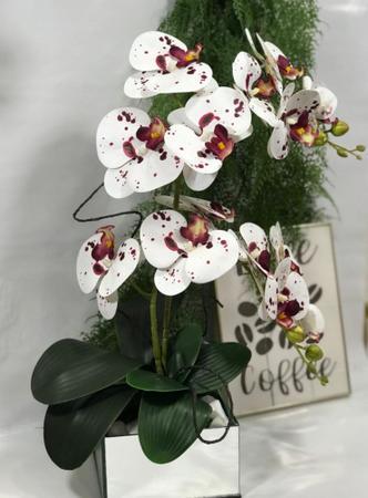 Imagem de Arranjo Artificial Orquídeas Dalmata Vaso Espelho-Centro de Mesa- 70636