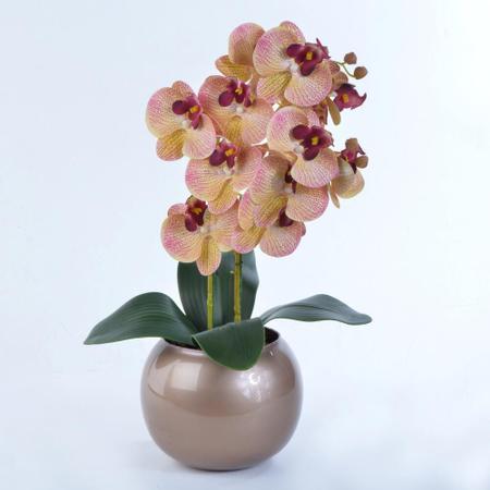 Imagem de Arranjo de Orquídea Artificial em Vaso Cobre Valentina