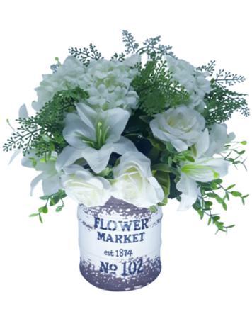 Imagem de Arranjo vaso cerâmica rústico com flores variadas