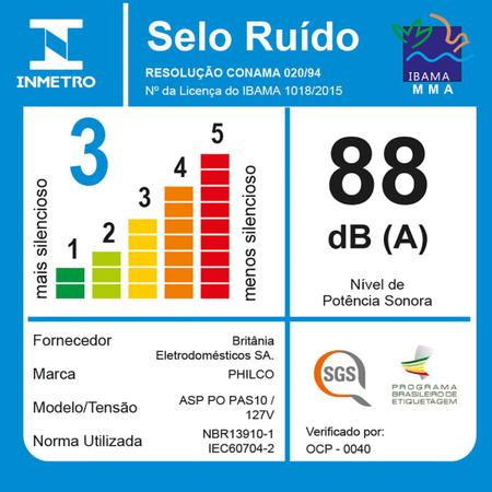Imagem de Aspirador de Água e Pó Philco PAS10 1000W