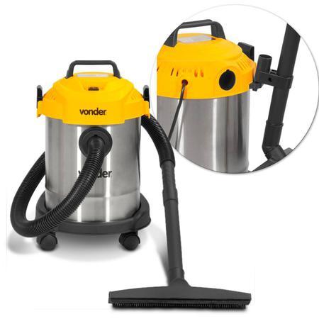 Imagem de Aspirador de Pó Vonder APV1000 12 Litros 1000W 220V Sólidos e Líquidos Reservatório Preto e Amarelo