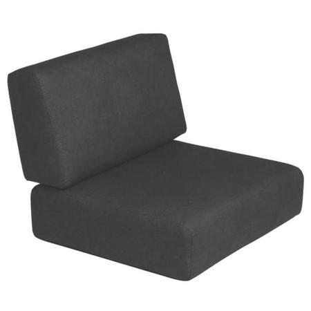 Imagem de Assento e encosto estofado para poltrona preto - DUNA