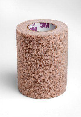 Imagem de Bandagem elastica bege coban 75mm x 4,5 m - 2083 - 3m - 1un