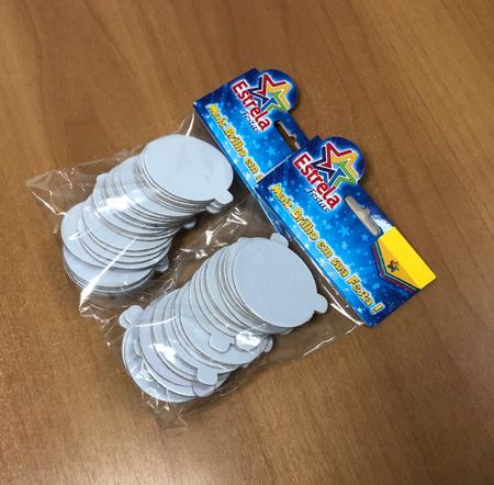 Imagem de Base laminada para brigadeiros e doces finos, 5,50 cm, branco - 100 unidades