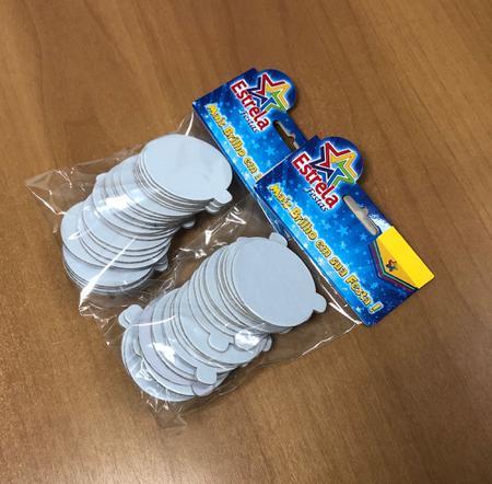 Imagem de Base laminada para brigadeiros e doces finos, 5,50 cm, branco - 250 unidades