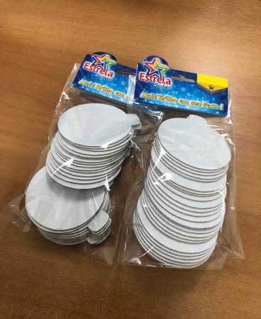 Imagem de Base laminada para doces finos, 7,50 cm, branco - 500 unidades