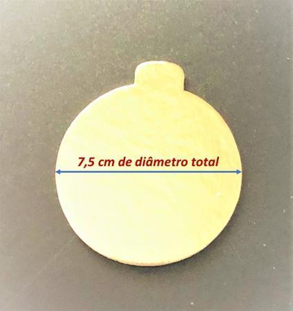 Imagem de Base laminada para doces finos, 7,50 cm, ouro - 100 unidades