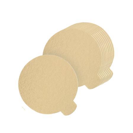 Imagem de Base laminada para doces finos, 7,50 cm, ouro - 250 unidades