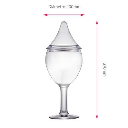 Imagem de Bomboniere de Vidro Grande com Tampa Plástica Bélgica