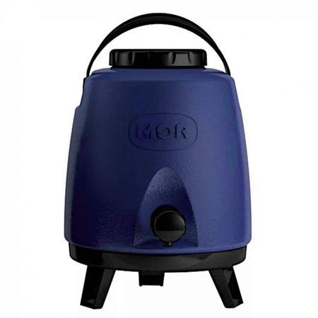 Imagem de Botijao Coffe Break Garrafa Termica 6l Quente e Frio com Torneira Azul  Mor