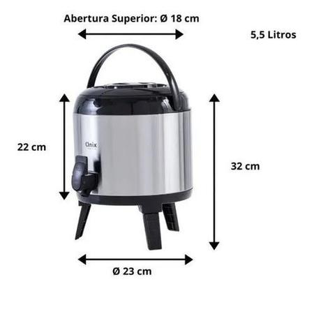 Imagem de Botijão garrafão térmico de inox 5,5 litros - 1257 - paramount