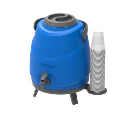 Imagem de Botijão Térmico com Porta Copos Aspen 9LT Azul Soprano