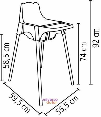 Imagem de Cadeira Infantil Tramontina para Refeição Teddy Alta em Polipropileno