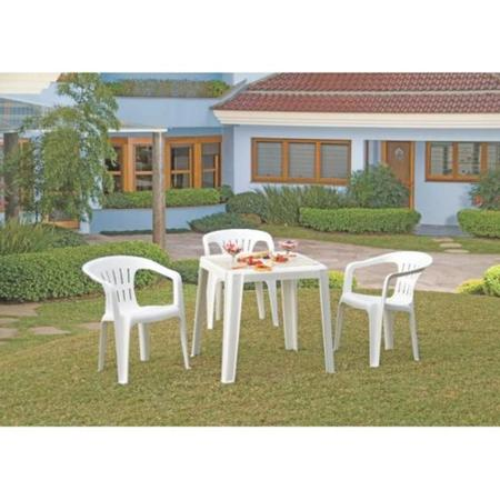 Imagem de Cadeira plástica com braços branca - Atalaia - Tramontina