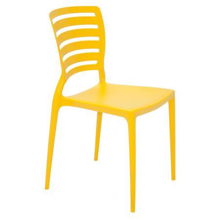 Imagem de Cadeira Sofia encosto horizontal amarela Tramontina 92237000
