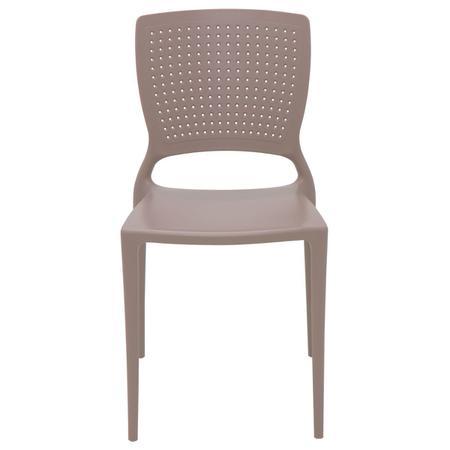 Imagem de Cadeira Tramontina Safira Camurça em Polipropileno e Fibra de Vidro
