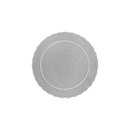 Imagem de Cake board, base laminada p/ bolo, redonda, 15 cm, prata - 100 unidades