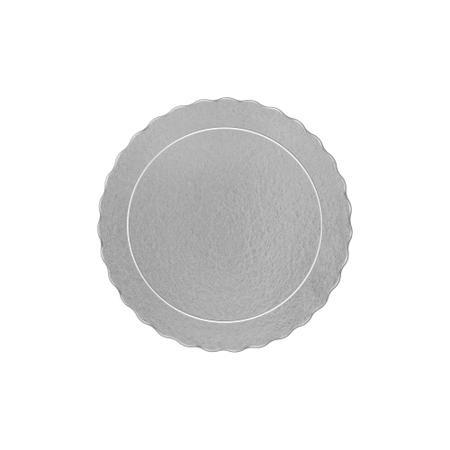 Imagem de Cake board, base laminada p/ bolo, redonda, 20 cm, prata - 200 unidades