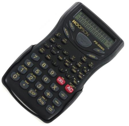 Imagem de Calculadora Científica Preta PS-89MS Hoopson*