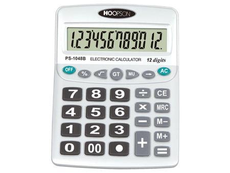 Imagem de Calculadora de Mesa 12 Dígitos - Hoopson - PS-1048B