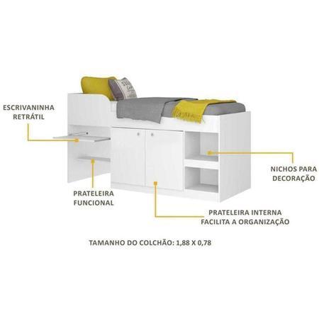 Imagem de Cama Multifuncional Multimóveis 2511 Branco