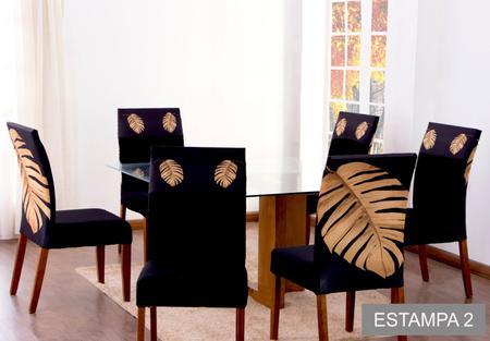 Imagem de Capa de Cadeira 4 Lugares Ajustável Malha Gel Flores Paris