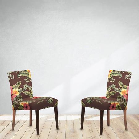 Imagem de Capa de Cadeira em Malha 2 Peças Helanca - Adomes