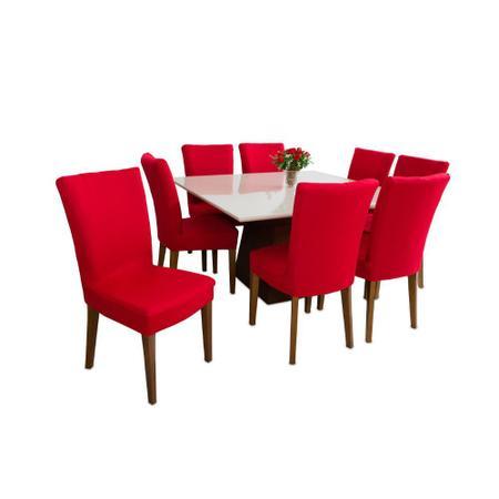 Imagem de Capa de Cadeira Malha gel elástica Vermelha premium luxo