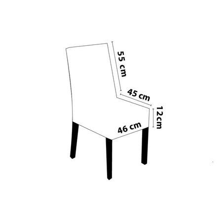 Imagem de Capa de Cadeira Malha Suplex - Composê Fendi e Dália - Kit 4 Capas