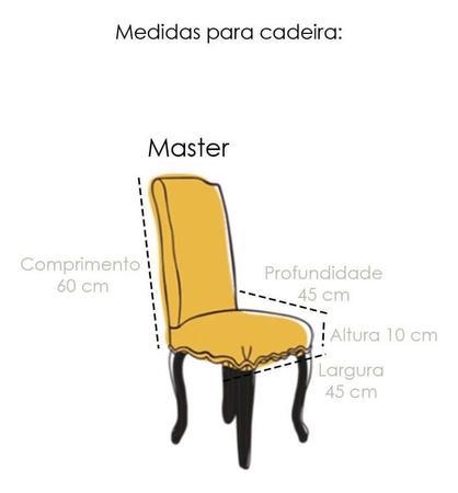 Imagem de Capa de Cadeira Master Estampada Botanica Sultan
