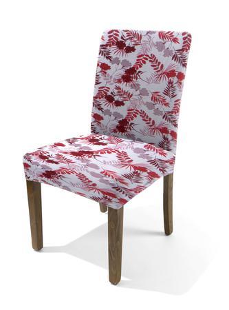 Imagem de Capa de Cadeira Master Estampada Sultan - Vermelho