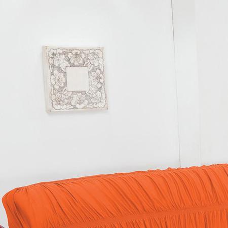 Imagem de Capa de Sofá 3 Lugares Elásticada Laranja
