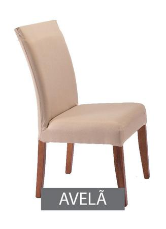 Imagem de Capa para Cadeira com Estofado- KIt com 4 Unidades  Cor Avela