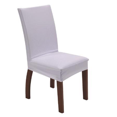 Imagem de Capa para cadeira de tecido malha gel sala cozinha branca