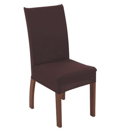 Imagem de Capa para cadeira de tecido malha gel sala cozinha marrom