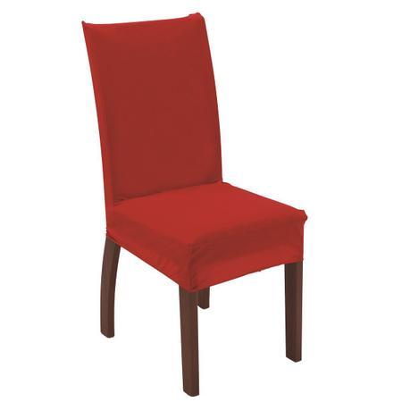Imagem de Capa para cadeira de tecido malha gel sala cozinha vermelha