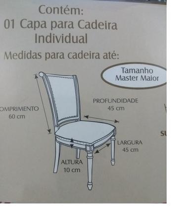 Imagem de Capa para cadeira estampada  Casa Doro