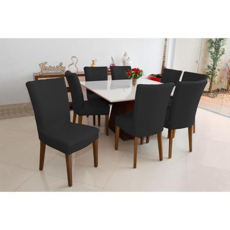 Imagem de Capa Para Cadeira Jantar Elástica Linda Preta Premium luxo