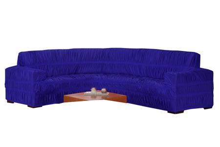 Imagem de Capa Sofa De Canto Elasticada Malha Gel  Até 6 Lugares Azul