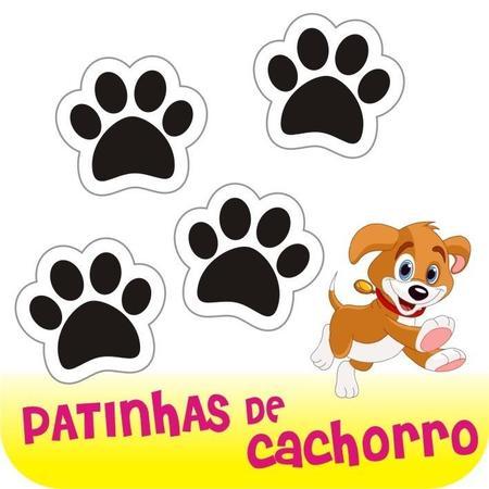Imagem de Cartela com 24 Adesivos - Patinhas De Cachorro - Pegadas Em Vinil