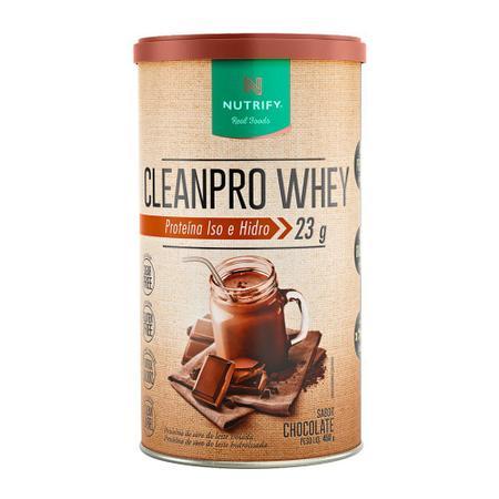 Imagem de Cleanpro whey proteina iso e hidro 450g chocolate - nutrify