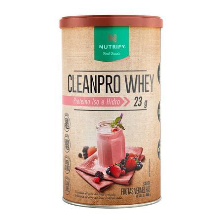 Imagem de Cleanpro whey proteina iso e hidro 450g frutas verm -nutrify