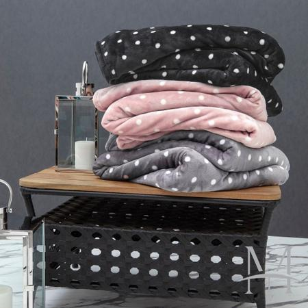 Imagem de Cobertor Casal Kacyumara Blanket Vintage Poa 1,80x2,20m