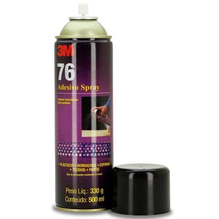 Imagem de Cola Spray 3m 76 Adesivo Tecido Forro Teto Carro Tapeceiro