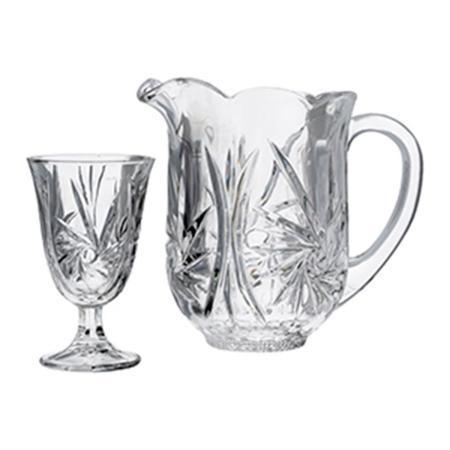 Imagem de Conjunto com Jarra e 6 Taças de Cristal Prima Luxo 1,3L/240Ml