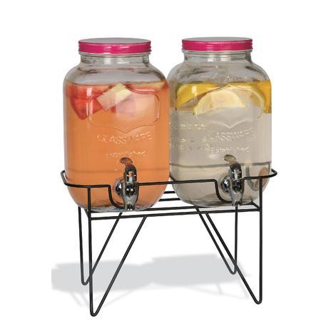 Imagem de Conjunto de suqueira dupla 2 litros cada com suporte tampa pink