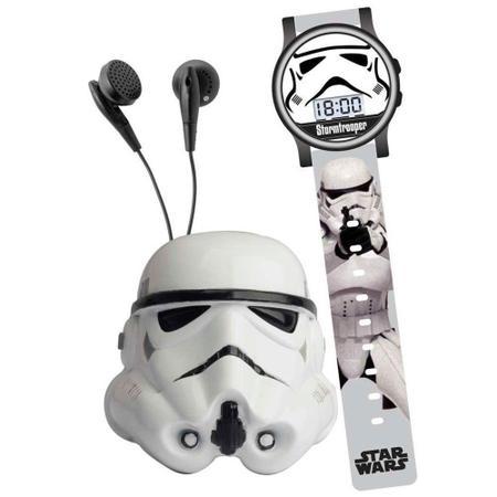 Imagem de Conjunto Star Wars - Kit com Relógio e Rádio - Stormtrooper - Candide - Disney