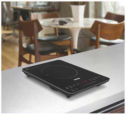 Imagem de Cooktop Portátil por Indução Tramontina Slim Touch EI 30 em Vitrocerâmico com 01 Boca e Painel Digital Preto - 94714/13