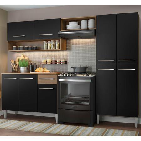 Imagem de Cozinha Compacta Madesa Emilly Pop Com Armário e Balcão