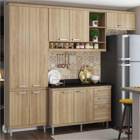 Imagem de Cozinha Completa Multimóveis com 5 peças Sicília 5841 Argila/Argila
